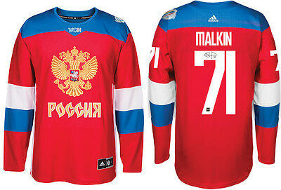 Evgeni Malkin - Signed Team Russia 2016 World Cup Jersey