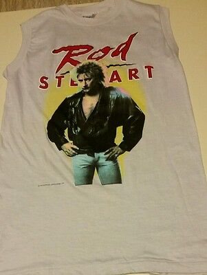 Vintage Rod Stewart Authentic 1984 Tour Shirt Ultra Rare Sz M