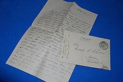 1918 World War, German Captain Field Post Vintage old Letter WWI, Antique L77