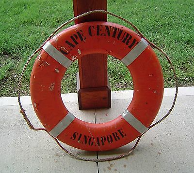 Vintage Ship's Life Preserver Ring - Cape Century Singapore - Nautical Decor