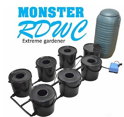 6 Pot Rdwc Hydroponics System 21L Deep Water Culture Bubbler Oxy Iws Rdwc Roots
