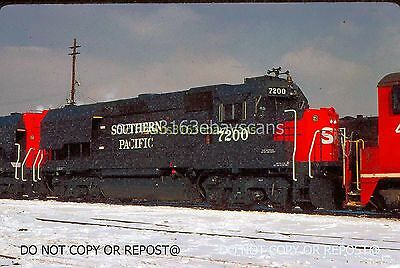 Original Slide Original Slide Southern Pacific Rr New Gp40X 7200 On Ri Silvis Il