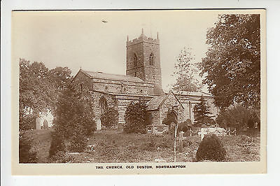 Northants: The Church, Old Duston, Northampton - RP PC (192)