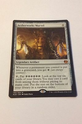 Aetherworks Marvel, Kaladesh Mythic Rare Artifact, Magic the Gathering MTG