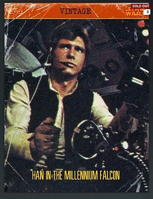 Topps Star Wars Card Trader Vintage Han In Millennium Falcon! Digital Card