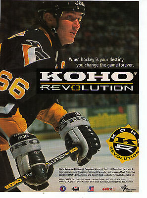 "1994 Mario Lemieux 'Koho Revolution"" Hockey Stick Vintage Print Advertisement"