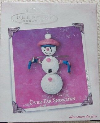 Hallmark Keepsake Ornament Over Par Snowman Golf