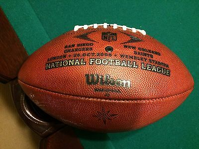 10/26/2008 Chargers Vs Saints Game Used Football - Wembley Stadium - London Game
