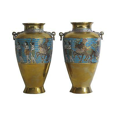 Charming Egyptian Revival Urns - A Pair