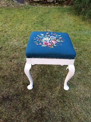 Vintage Painted Piano Stool