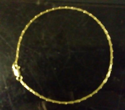 """9ct Solid Gold Ladies Anklet - Egyptian Style - 24cm's 9.5"""""""