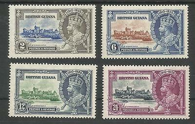 British Guiana The 1935 Gv Silver Jubilee Set Fine Mint