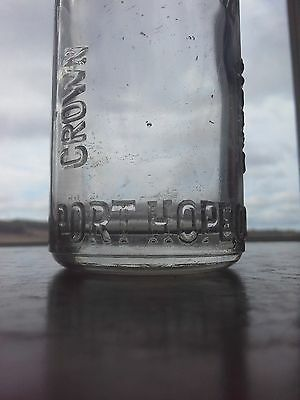 Rare, Vintage Port Hope, Ont. Crown Bottling Works Bottle 1920's Soda