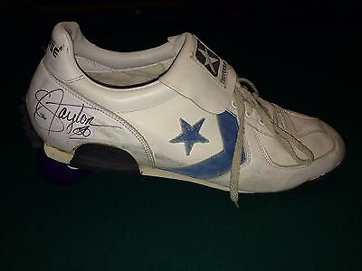 Lawrence Taylor New York Giants Autographed Game Used Cleat / Turf Shoe - Rare