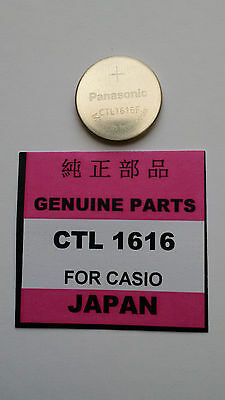 CTL 1616 Rechargeable watch solar battery for Casio