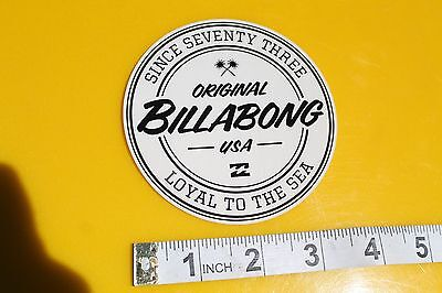 Billabong Loyal to the Sea Since 1973 Surfboards Vintage Surfing Decal STICKER