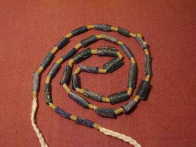 Ancient Fragment Glass Beads Strand Roman 200 BC  #2223