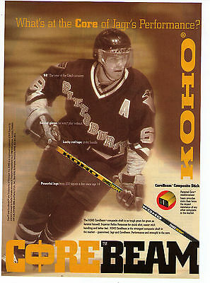 "1990's Jaromir Jagr ""Koho"" CoreBeam Hockey Stick Vintage Print Advertisement"