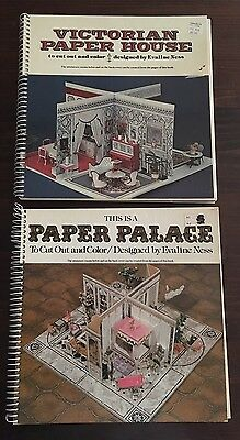 Victorian House + This Is a Paper Palace to Cut Out & Color by Evaline Ness 1976