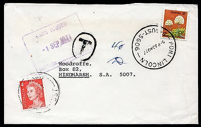 Australia 1977 underpaid commercial cover with 4c QE II paying postage due