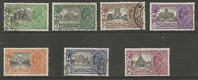 India The 1935 Gv Silver Jubilee Set Of 7  Fine Used