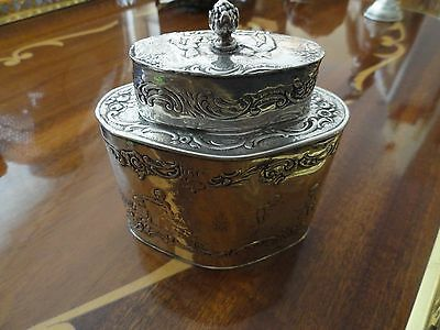 Antique Silver Europian Tea Caddy