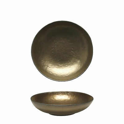 12x Tablekraft Vilamoura Metallic Bronze Round Bowl Flared 220x53mm