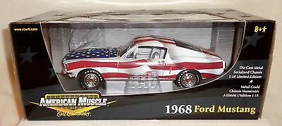 1968 Ford Mustang USA Flag American Muscle ERTL Limited Edition 1:18 Diecast NEW