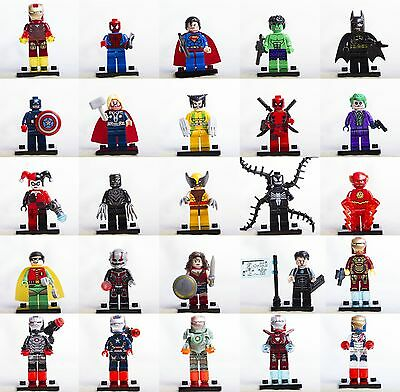 Lego Minifigures Avengers Super Heroes Marvel X-Men Dc Comics Custom Like