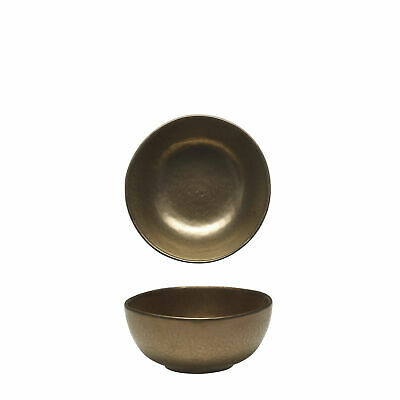 12x Tablekraft Vilamoura Metallic Bronze Round Bowl Deep 150x70mm