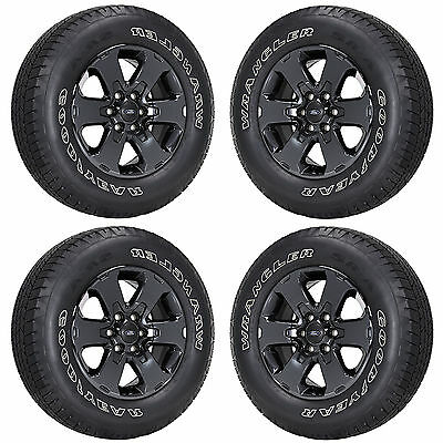 18 Ford F150 Truck Black Chrome Wheels Rims Tires Factory