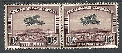 South West Africa 1931 Airmail 10D Pair