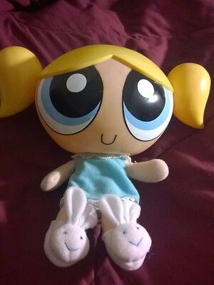 "The Powerpuff Girls Talking BEDTIME BUBBLES 10"" Plush Doll (2000 Trendmasters)"