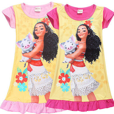 Baby Girls Party Costume Newest Moana Skirt Cartoon Mini Dress Kids