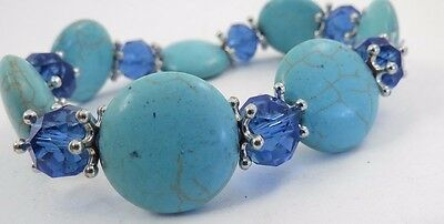 Turquoise Glass Crystal  Bracelet A296