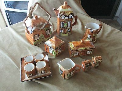 Mixed Lot of Price Brothers Kensington Cottage Ware Biscuit Barrel Teapot Butter