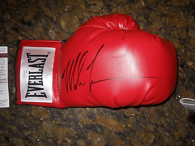 Mike Tyson Signed Right Handed Red Everlast Boxing Glove Jsa Coa Witnessed Auto