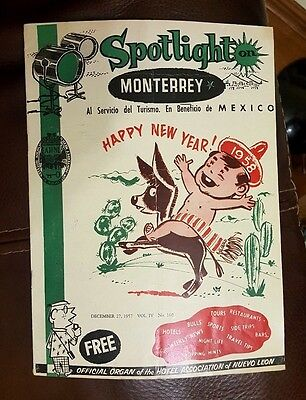 SPOTLIGHT ON MONTERREY Mexico Travel Magazine 1958 New Year