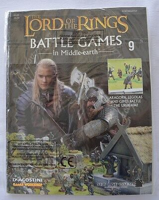 Lord Of The Rings:Battle Games In Middle-Earth–Issue #9 Magazine with miniatures