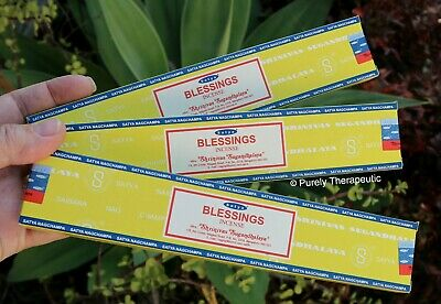 BLESSINGS SATYA NAG CHAMPA INCENSE STICKS~15g~Reiki Smudging Wicca Pagan
