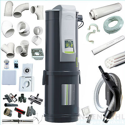 Central vacuum system enke 1900W - Complete - 30m Mounting material - Saugset