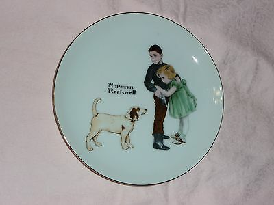 Big Brother Collector's Edition LIMITED SERIES GOLD Edging Norman Rockwell Plate