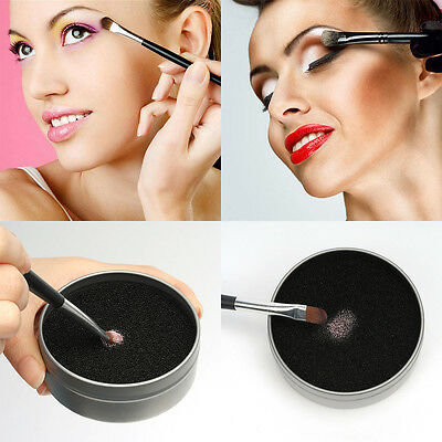Remover Switch Color Dry Clean Eye Shadow Makeup Brush Sponge Cleaner Box