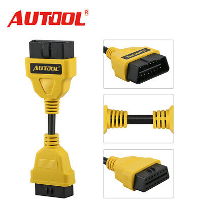 AUTOOL OBD2 16Pin Male to Female Extension Cable Diagnostic Extender Connector