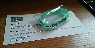 NEW Mountain Dew Baja Blast Wristband Baja Or Bust Promo Game Rare Collectible