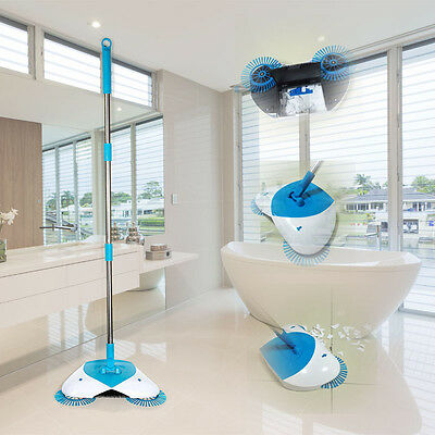 NEW Hurricane Spin Broom Cleaning Sweep Any Surface And Effectively Contained