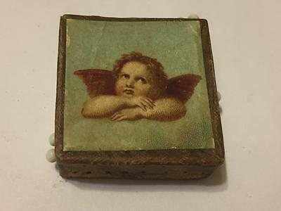 Small Cube CHERUB Glass Head Toilet Sewing Pins Neuss Brothers Made in Germany