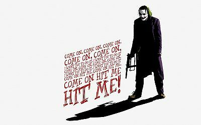 "12""x20""Batman the joker Paintings HD Print on Canvas Home Decor Wall Art Picture"