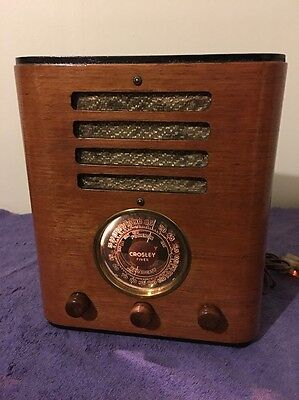 Vintage Restored WWII era Crosley Shortwave Tube Ham Radio 80828
