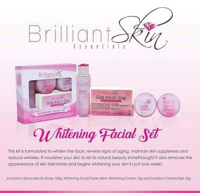 Brilliant Skin Essentials Whitening Facial Set (maintenance set)